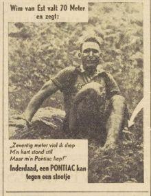 Zeventig meter viel ik diep, mijn hart stond stil, maar mijn Pontiac liep ...