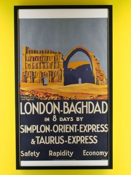 Affiche London-Baghdad door Roger Broders, 1931 - Arjan den Boer
