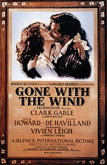 Gone with the wind (1939) - oude filmposter