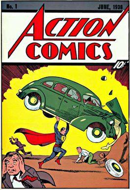 Voorkant van de eerste editie van Action Comics