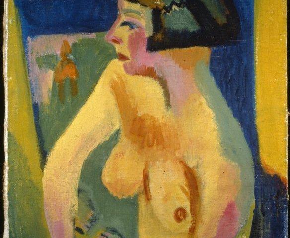 Zittend Naakt - Jan Wiegers, 1925 (Groninger Museum)