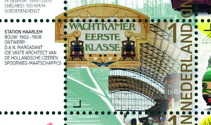 Nieuwe postzegels tonen 175 jaar spoorwegen in Nederland