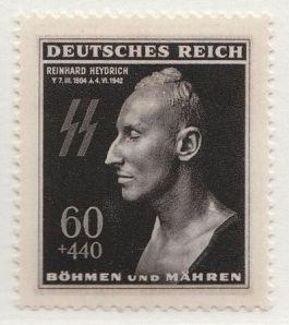 Postzegel met daarop de beeltenis van Reinhard Heydrich (Deutsche Reichspost)