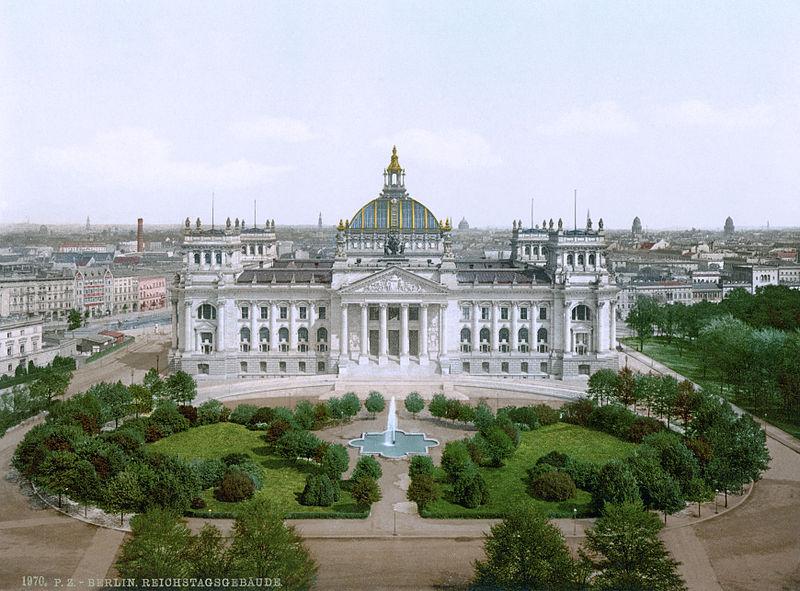 Duitse Rijksdag aan het begin van de twintigste eeuw (photochrom)