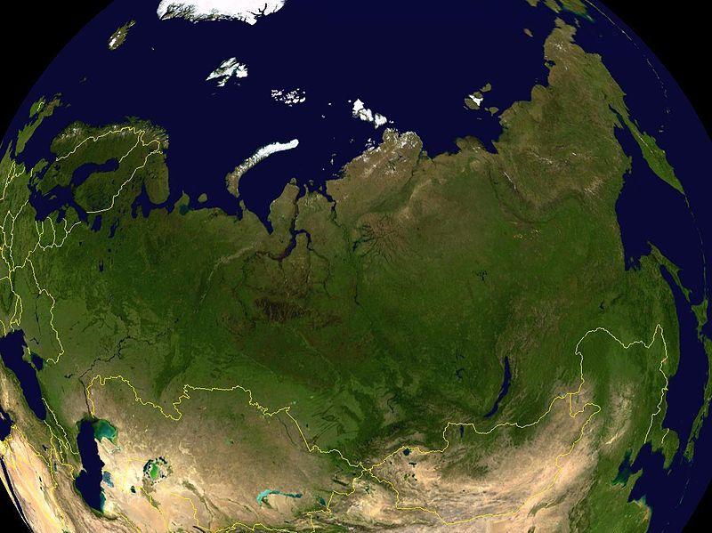 Satellietfoto van Rusland