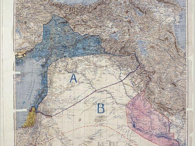 Kaart van het Sykes-Picotverdrag