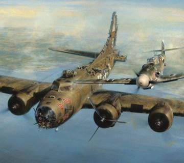 Duitse piloot spaarde Amerikaanse vijand kort voor kerst