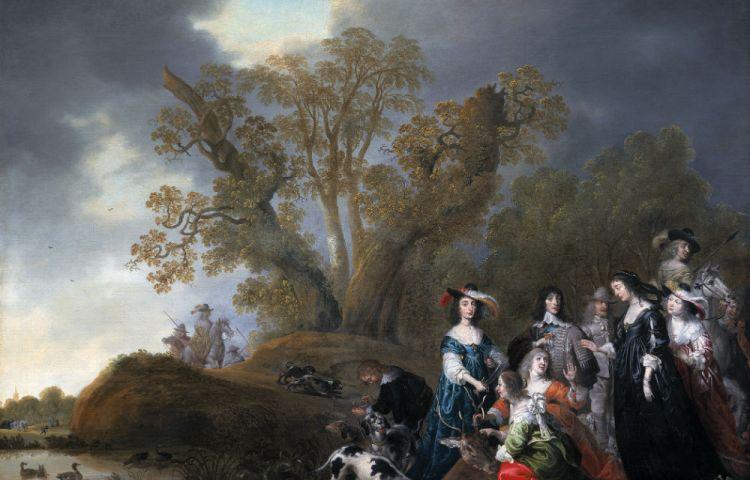 Keur Baart Angst door Jan van Goyen en Jacob van der Merck, 1638-1640. Particuliere collectie via kunsthandel Hoogsteder en Hoog