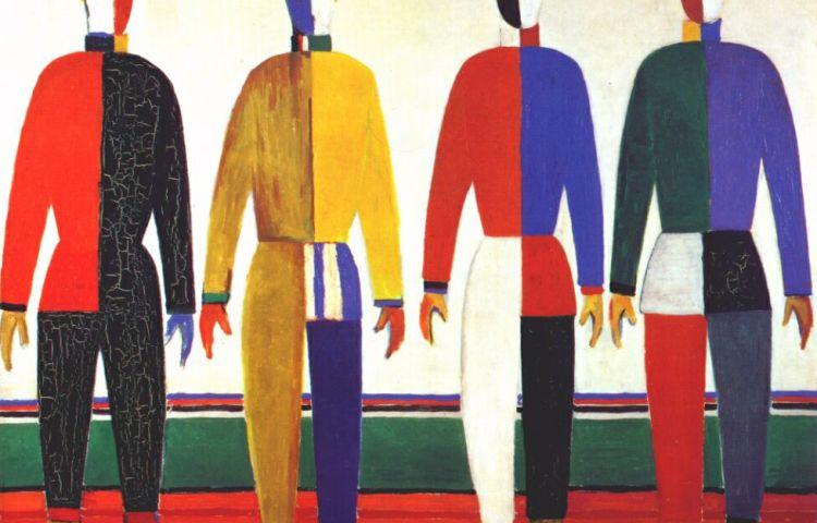Kazimir Malevich, Sportlieden, 1930-1931, olieverf op doek, Collectie Staats Russisch Museum, St. Petersburg