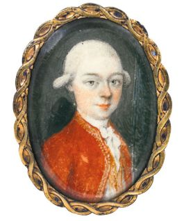 Miniatuurportret van Mozart (Sothebys)