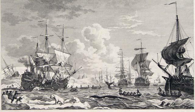 De Walvischvangst (1792) door H. Kobell, Jr.