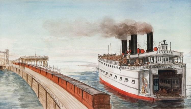 SS Baikal, detail panorama Pavel Piasetsky (Hermitage)
