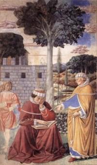 Augustinus door Benozzo Gozzoli (15e eeuw)