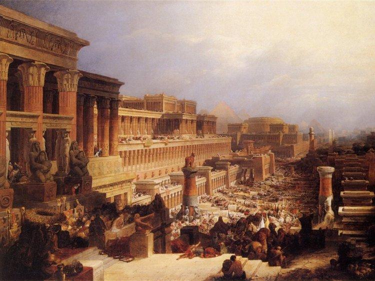 'De Israëlieten verlaten Egypte' - David Roberts (1828)