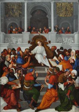Jezus als wijsheidsleraar (Mazzolino, Gemaeldegaleri Berlijn)
