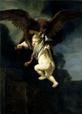 Rembrandt van Rijn. De roof van Ganymedes