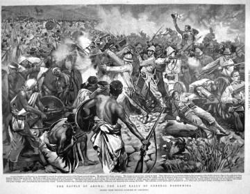 De Slag bij Adwa, met in het midden Vittorio Dabormida (arsbellica.it)
