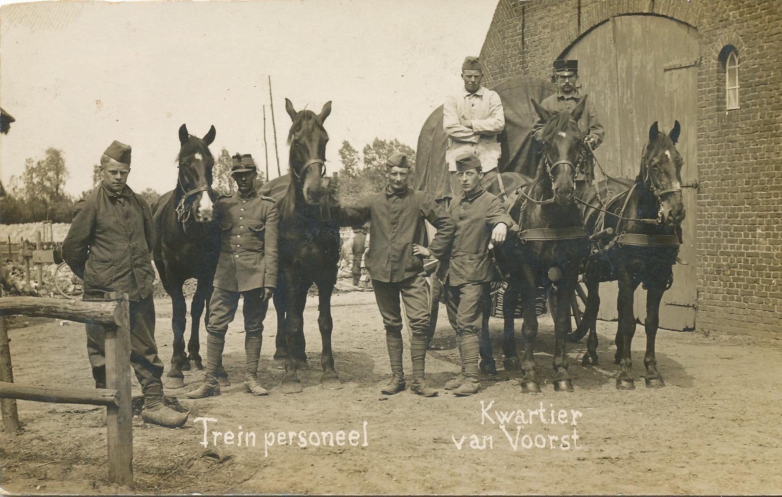 Mobilisatie in Ede 1914