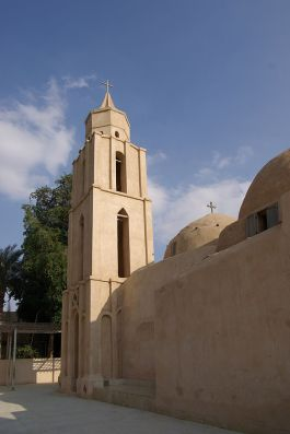 Koptisch-orthodoxe kloosterkerk bij de Egyptische stad Wadi Natroen - cc.