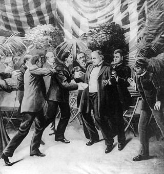 Moordaanslag op president McKinley, door de Poolse anarchist Leon Czolgosz