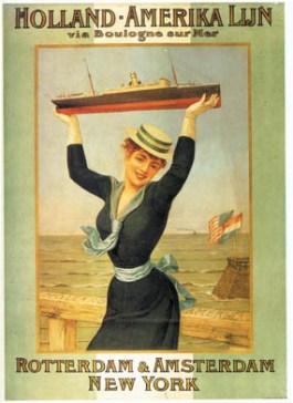 Affiche uit 1898 voor de Holland-Amerika Lijn - cc
