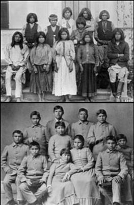 Complete make over van indianenkinderen