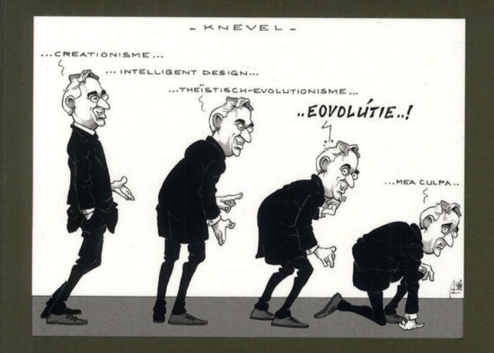 Detail van de cover met de cartoon van Pluis