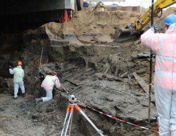 Het wrak werd gevonden tijdens de aanleg van een tunnel (Gemeente Zutphen)