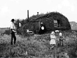 Huis van een emigrant in North-Dakota (1898)