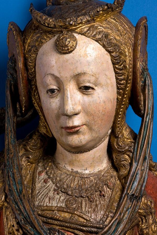 Ursula en reisgenoten, detail, Meester van de Utrechtse Stenen Vrouwenkop, ca. 1530 (Catharijneconvent)