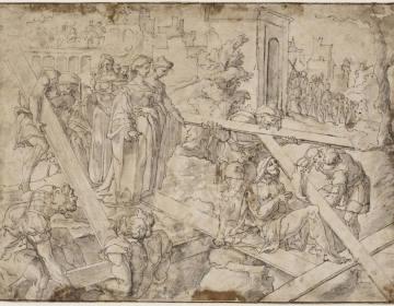 De heilige Helena ontdekt het Ware Kruis - Jan van Scorel