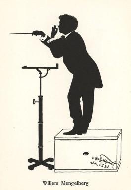Silhouet van Mengelberg uit 1918 (Hans Schließmann)