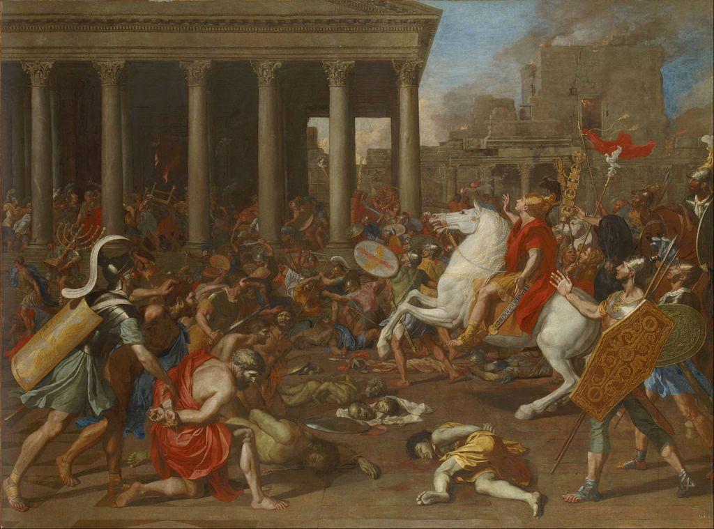The Destruction of the Temple of Jerusalem (1638) - Nicholas Poussin. (Kunsthistorisches Museum, Vienna)