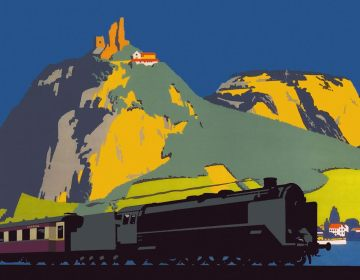 Affiche Rheingold door Frank Newbould, 1928 (privécollectie)