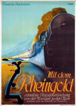 Affiche Rheingold door Richard Friese, 1928 (Spoorwegmuseum)
