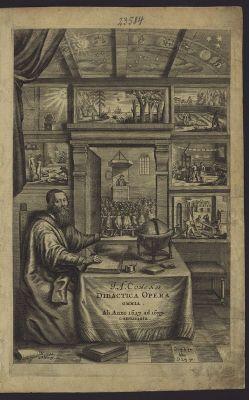 Comenius in zijn werkkamer