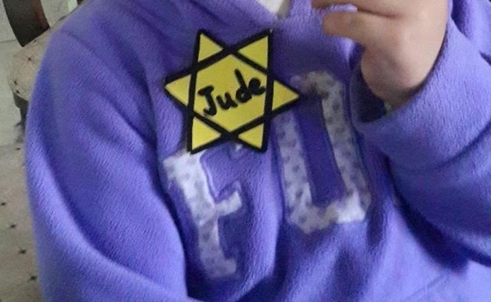Leerlingen kregen een Jodenserk opgeplakt