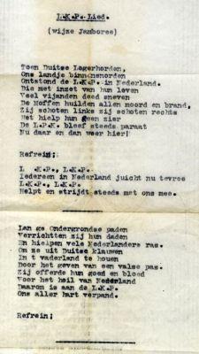 LKP-lied (Oorlogsverzetsmuseum Rotterdam)