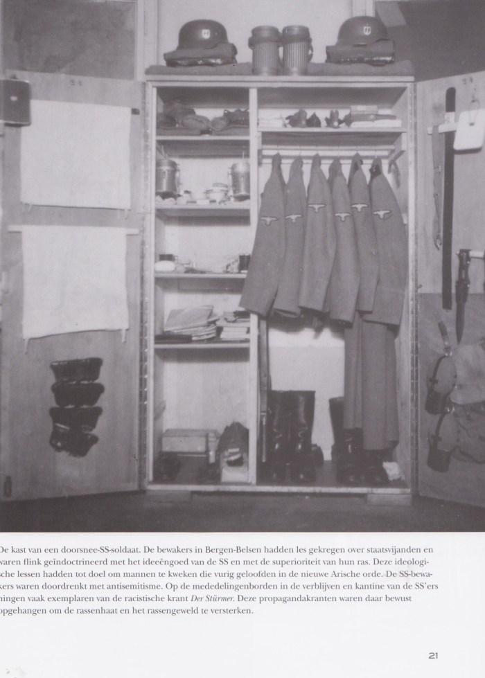 Kast van een SS'er in Bergen-Belsen