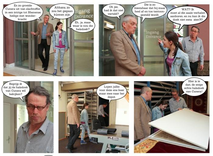 Sneakpreview stripboek de halsdoek van Cunera