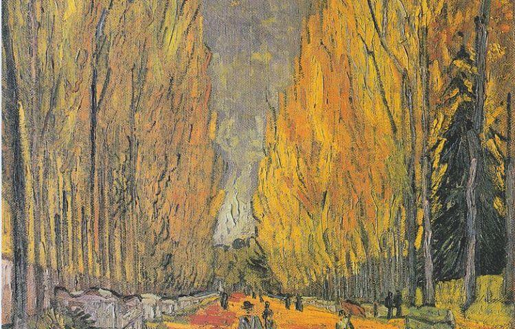 L'Allée des Alyscamps - Vincent van Gogh, 1888