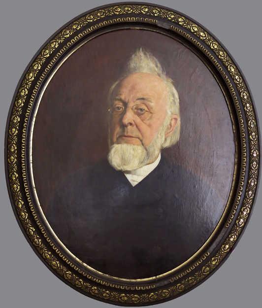 Portret ds. C.S. Adama van Scheltema, geschilderd door J.H. Scheltema, 1888, obj.nr SA 40426