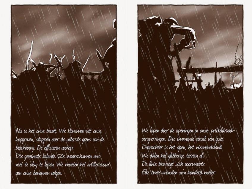 Pagina uit 'Elke dag sterven' (Luuk Koelman)