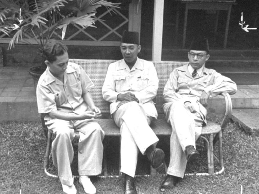 Vlnr. Sjahrir, Soekarno en Hatto. Bron: politik.kompasiana.com