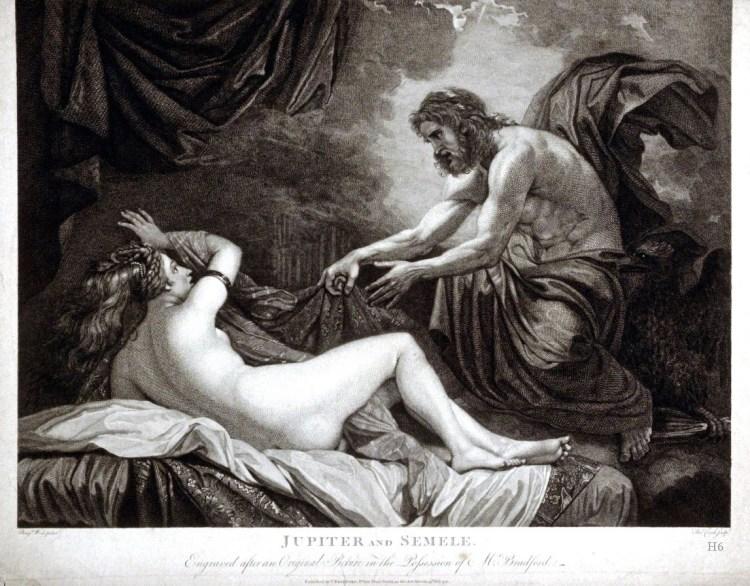 Semele en Jupiter (Thomas Cook, 1744)