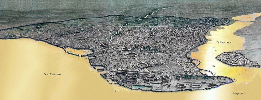 Constantinopel in het Byzantijnse Rijk (wiki)