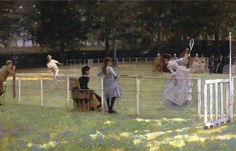 John Lavery, The tennis party, olieverf op doek, 1885. Aberdeen Art Gallery & Museums Collections, Aberdeen