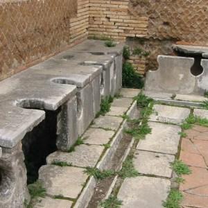 Romeinen waren bang op het toilet