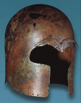 Corinthische helm - Foto: Museo archeologico regionale di Camarina
