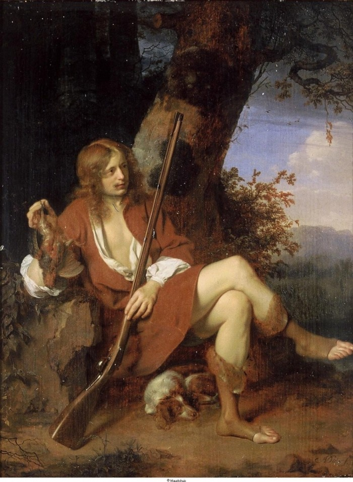 "Arie de Vois, ""Zelfportret als jager"" (ca. 1667). Bron: www.geheugenvannederland.nl"